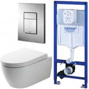 Инсталляция Grohe Rapid SL 38772001 + унитаз SSWW CT2038 (CT4455) ReemFree с сиденьем <br /> <span style='color:#e7050f; font-weight: bold;'>Акция до 30 июня!</span>