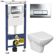 Инсталляция Geberit Duofix 458.125.21.1 + унитаз Cersanit Carina Clean On с сиденьем <br /> <span style='color:#e7050f; font-weight: bold;'>Акция до 20 августа!</span>