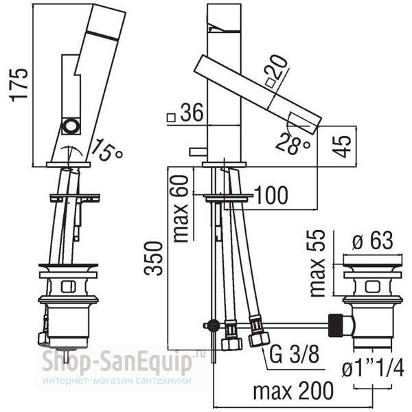 смеситель для раковины nobili tower tw 00713 Смеситель для кухни TEKNOBILI Tower TW00117CR, Италия ...