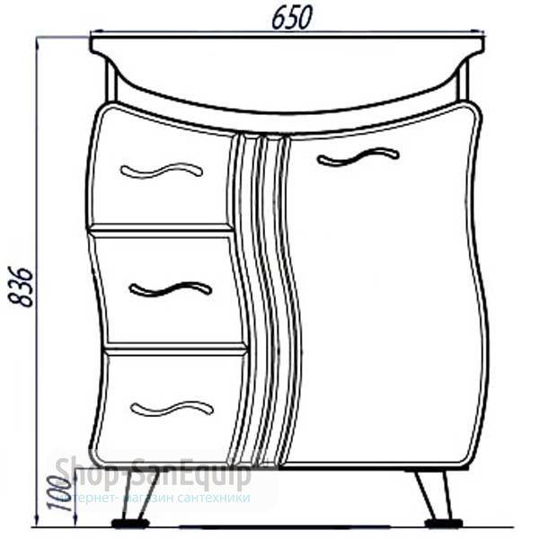 Шкаф подвесной двустворчатый Минима 65 арт.17-3 в интернет ...
