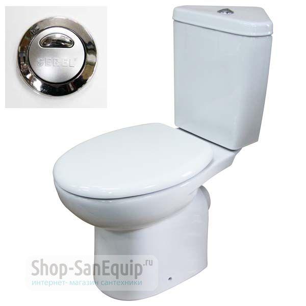 Унитаз-компакт Serel Friendly 6706 угловой, с микролифтом вагонка отделка ванной комнаты
